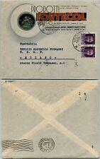 RSI-Busta pubblicitaria FORTECOL Alassio 25.10.1944-Coppia 50 c Imperiale(493)