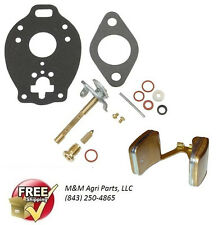 CARBURETOR KIT & FLOAT MASSEY FERGUSON MF 135 150 50 35 TO35 MASSEY HARRIS F40
