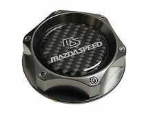 CNC BILLET GUNMETAL CARBON FIBER ENGINE OIL FILLER CAP FOR MAZDA