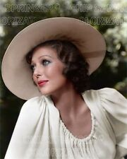 LORETTA YOUNG IN A LARGE BRIMMED HAT 8X10 BEAUTIFUL COLOR PHOTO BY CHIP SPRINGER