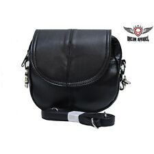 BIKER MOTORCYCLE GENUINE LEATHER Womens Leather Classic Bag BAG21