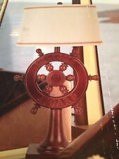 SHIPS WHEEL NAUTICAL LAMP with Shade - All Aboard