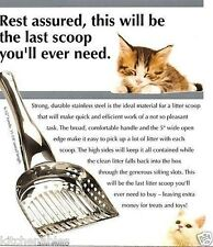 ENDURANCE STAINLESS STEEL CAT KITTY LITTER BOX SCOOP EXTRA LARGE - SIFTING