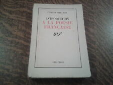 introduction a la poesie francaise - thierry maulnier (1939)