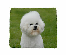 Bichon Frise Dog Microfibre Glasses Camera Lens Phone Screen Cleaning Cloth