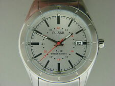 NEW MEN'S PULSAR STAINLESS STEEL WATCH # PXH843X