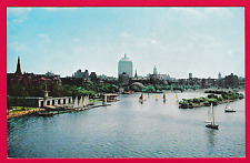 Unposted card. Boat House, Charles River, Boston, Massachusetts, U.S.A.