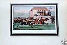 ASCOT RACES Horse Race Henry Alken 1924 Betting Gambling Wager Tipped In Litho