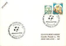 Calcio, football - Annullo speciale Coppa del mondo (Mondiali), Italia '90