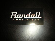 Randall Amplifiers Sticker / Decal 7""