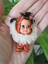Vintage Liddle Kiddles Tiny Tiger Animiddle By Mattel Clean Little Pin