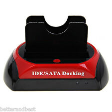 "2.5"" 3.5"" IDE SATA OTB USB2.0 HDD Hard Enclosure Disk Drive Docking Dock Station"