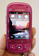 Samsung SEEK SPH-M350 Sprint Cell Phone PINK slider keyboard EVDO wireless Used
