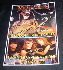 Megadeth Concert Poster-Olympic Ballroom,Dublin 1988 A3 Size Repro