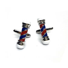 Red & Blue Barbers Pole Hairdressers Mens Gift For him Cufflinks