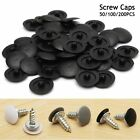 LOT 50-200PCS Pozi Head Screw Cover Caps Pack Plastic Press Fit Click 3-Colors
