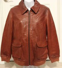 NEW Madewell for J CREW Leather Jacket Size M Cognac