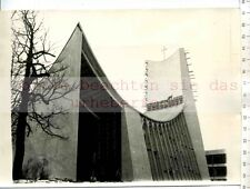 ORIGINAL PRESSEFOTO: 1958 FIRST VATICAN PAVILLON on BRUSSELs WORL FAIR