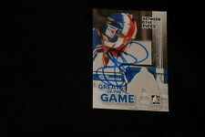 JOHN DAVIDSON 2008 IN THE GAME SIGNED AUTOGRAPHED CARD #81 RANGERS
