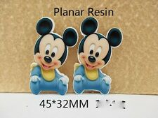 5 x 32mm BABY MICKEY MOUSE LASER CUT FLAT BACK RESIN EMBELLISHMENT HEADBANDS