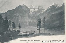 POSTCARD  ADVERTS  KLAUS'S  Swiss Milk  Chocolate