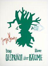 Josef Beuys:Gespraech Ueber Baeume, 1980-82.  Signed, Numbered, Fine Art Poster.