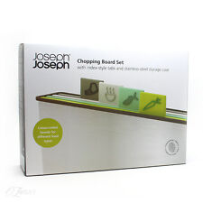 Joseph Joseph Chopping Board Set with Index Style Tabs & Stainless Steel Storage