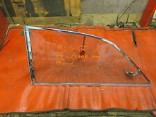 MGB GT, Original Left Rear Quarter Glass, Clear, Chrome Trim, !!