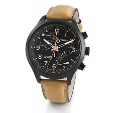 Timex Men's T2N700 Intelligent Quartz SL Series Fly-Back Chronograph Brown Leath