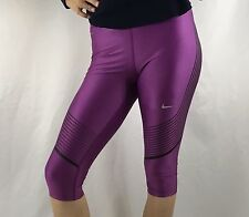NIKE Power Speed Women's Capri Leggings Pants Dri-Fit Purple 801694 $110 Size S