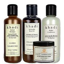 Khadi Natural Herbal Anti Hair fall Solution hair oil,conditioner,shampoo 730 GM
