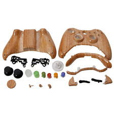 New Controller Cover Shell Case + Buttons Kit for Xbox 360 Controller Wood Grain