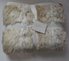 Pottery Barn Fox Faux Fur Throw Blanket Light Fox 50 x 60 - SOLD OUT at PB!!