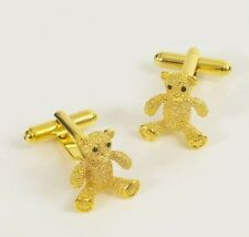 Cute Golden Teddy Bear Novelty Cufflinks  NEW in BOX  14794