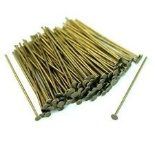100 x 26mm Antique Bronze Head Pins Craft Findings Jewellery Beading Z307