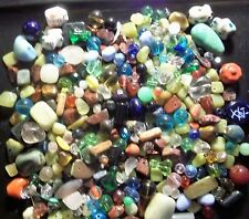 Assorted Mix of BETTER Beads, Findings, etc.~ NO plastic/acrylic/wood~ 1/3 lb.