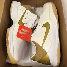 Nike Zoom Kobe V 5 Big Stage Sz 12 Finals Home White Gold Black VAULT PROMO