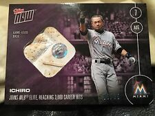 3,000TH MLB CAREER HIT RELIC CARD 3 OF 25 - ICHIRO SUZUKI - TOPPS NOW 327D