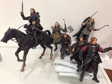 Lord Of The Rings Fellowship Figures Legolas Sam Aragon Elrond Boromir Gimli