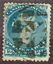 CANADA #28 LARGE QUEEN FINE FANCY CANCEL   (PRL6