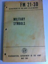 US Army Publication Book Military Symbols Guide  1961