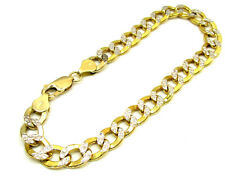 "7 Grams 7 mm 8.50"" Mens 10k Yellow Real Gold Cuban Curb Diamond Cut Bracelet"