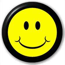 Small 25mm Lapel Pin Button Badge Novelty Smiley Face
