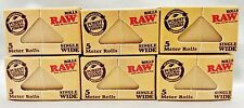 6 Boxes Raw Classic Single Wide Natural Unrefined 5 Meter Rolls Rolling Papers