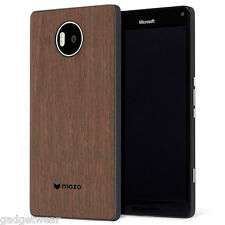 Mozo Qi Wireless Charging NFC Back Cover for Microsoft Lumia 950XL - Walnut Wood