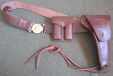 WWII WWI M1912 LEATHER .45 PISTOL BELT HOLSTER & AMMO POUCH