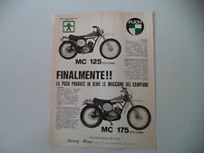advertising Pubblicità 1974 MOTO PUCH MC 125/MC 175
