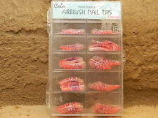 70 PCS Cala Professional Airbrushed Pre-Designed Pink French Acrylic Nail Tips