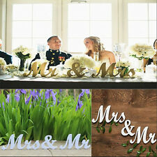 Mr and Mrs Letters Sign Freestanding Top Table Wedding Decor Centerpiece HOT