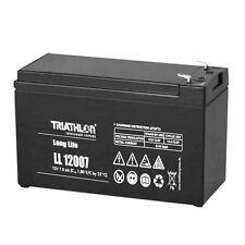 Triathlon Long Life AGM Batterie 12Volt 07AH wartungsfrei verschlossen VLRA